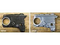 Motorcycle engine cases refurbished. Also car engine parts. Aluminium welding