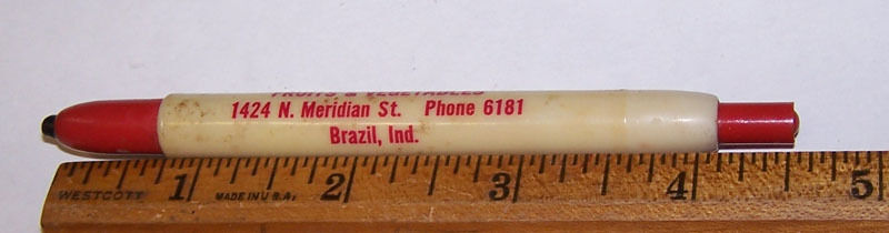 Vintage BARBEE FRUITS & VEGETABLES Grocers Wax Pencil Crayon BRAZIL INDIANA