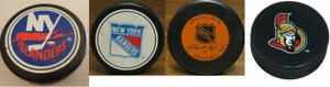 LNH Rondelles vintage de la de hockey. Excellente condition...