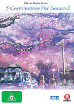 5 Centimetres per Second DVD NEW