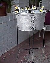 Wrought iron Beverage tub stand