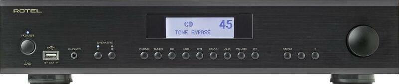 Rotel - 120W 2.0-Ch. Amplifier - Black  A-12 BLACK - USED