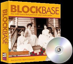 Block Base 4000 quilting patterns computer program