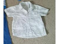 Baby boys shirt 9-12 months 75p
