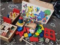 Wonderful Childrens Toy Chest with all sorts of learning/building toys for young children £6