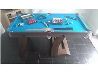 REDUCED - Pool / Snooker Table - folds upright for storage