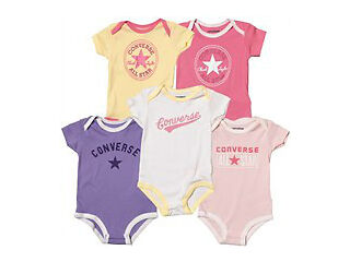 Converse baby girls pack of five body suits multipack  christmas gift idea