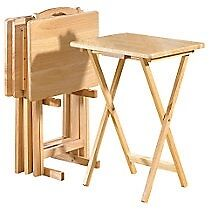 Folding Tables (Tray) Set