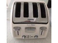 Tefal white 4 slice toaster