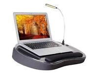 LapDesk Memory Foam with USB Light Black by Sofia + Sam NEW in BOX