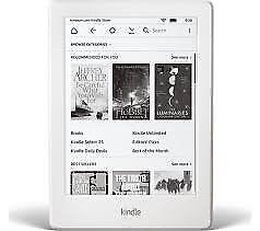 White Kindle eReader + case