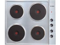 bosch 4 burner electric hob, nct615c01, stainless steel