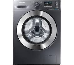 NEW SAMSUNG ecobubble WF80F5E2W4X Washing Machine - Graphite
