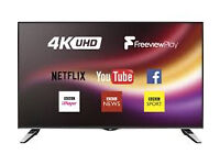 "JVC 49"" SMART 4K ULTRA HD LED TV 2016 MODEL LT-49C860 49.FREEVIEW HD."