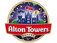 2 x ALTON TOWERS TICKETS FOR 08/10/2016