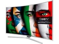 """65"""" Samsung smart 4k curve tv £980 price is negotiable and one year guaranteed,"""