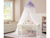 Lavender Ruffle bed canopy from USA