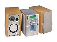 A PHILIPS MC-20 RADIO CD TAPE MICRO SYSTEM HIFI HI FI SYSTEM STEREO COMPLETE WITH SPEAKERS