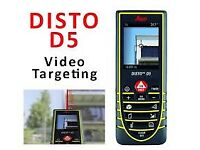Leica DISTO D5 Laser Distance Meter IP54,200m,Digital viewfinder (4 x zoom),NEW