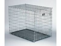 Dog Crate XXL Steel with inner tray - folds flat