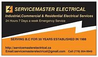 SERVICEMASTER ELECTRICAL 30 YEARS EXP $50 P/H