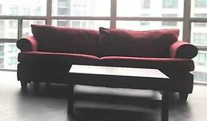 Red Velvet Sofa Bed