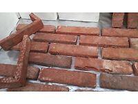 Brick tiles - slips TUDOR PASTORALE ref. 468, Hand moulding, Dim220x52x21mm