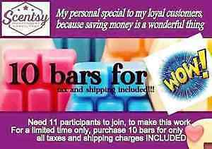 Personal scentsy bar special starting today
