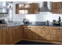 Plain Walnut Wood Effect Complete kitchen for sale £1195