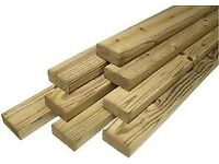 3x2 SCANT SQUARE EDGE TIMBER @3M (Collect 10+ for £3.69)