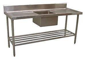 NEW COMMERCIAL SINGLE BOWL STAINLESS STEEL SINK/ 1500X600 CENTRE Gnangara Wanneroo Area Preview