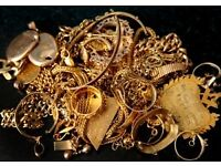 I will offer to buy your old, new or broken hallmarked gold for cash - solid ONLY