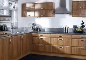 Complete Kitchen For Sale, Dark Walnut Wood Effect 14 Units £1195