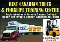 Truck Driving School in Brampton|AZ Training| Forklift Training