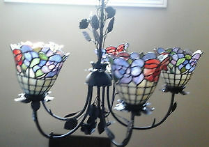 Stained Glass Chandlelier