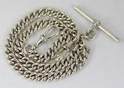 Antique Silver Pocket Watch Chain