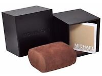 Dark Brown Michael Kors Watch Box with booklet and cushion
