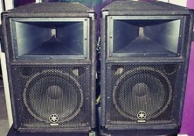 Yamaha S112V 2-Way 12 inch PA or DJ Speakers Pair