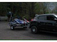 Jetski boat trailer to fit 2 stand up jetski yamaha Kawasaki rickter