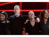 Metallica Concert Tickets 24th Oct, London on Face Value