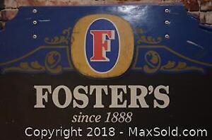 Large Vintage Foster's Lager Advertising Sandwich Board With Chalk Board