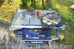 Mastercraft Hawkeye 10 in Portable Table Saw With New Blade Pack