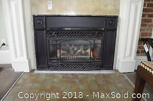 Gas Fireplace Insert. B