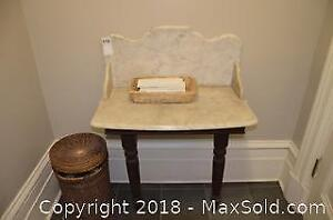 Antique Marble Topped Server B