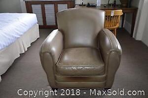 Leather Club Chair. B