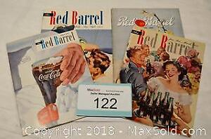 "COCA-COLA ""The Red Barrel"" company magazines LOT of 4"