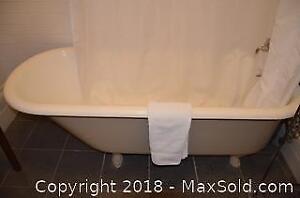 Clawfoot Bathtub and Shower. C