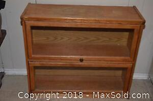 Vintage One Piece Two Shelf Barrister's Bookcase