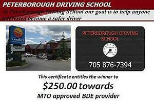 Peterborough Driving School $250 Towards MTO Approved Driving Course