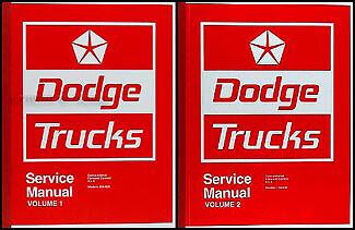 Best 1974 Dodge Truck Shop Manual 74 Pickup Power Wagon Adventurer Sweptline
